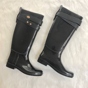 Coach Talia black rain boot, Sz. 8